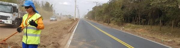 Recapeamento e outras melhorias  continuam na estrada de Ajapi.