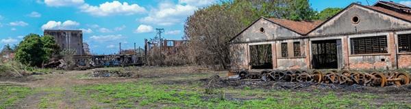Grande ação de limpeza em área da antiga ferrovia, em Rio Claro.