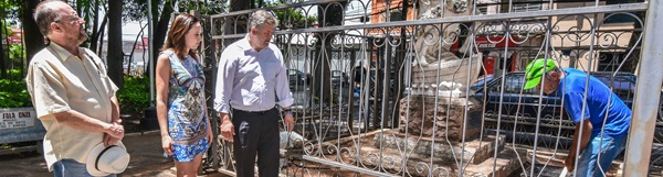 Monumento histórico do Jardim Público é restaurado.